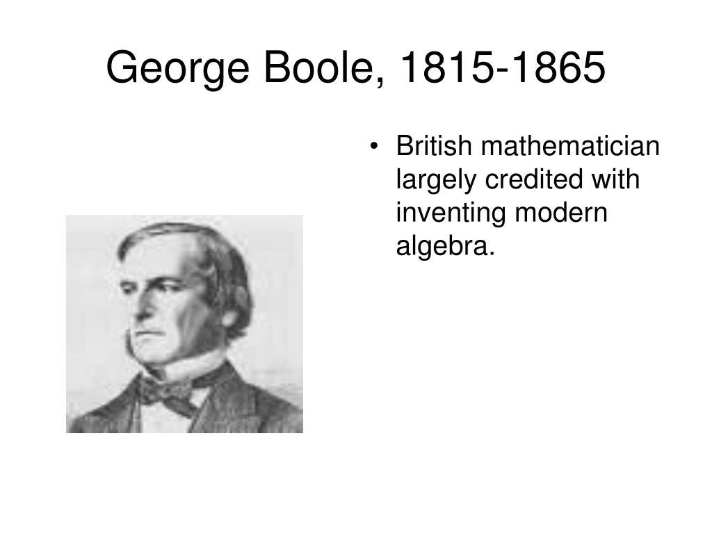 British mathematician largely credited with inventing modern algebra.