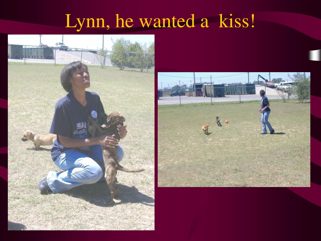 Lynn, he wanted a  kiss!