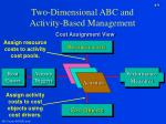 two dimensional abc and activity based management9