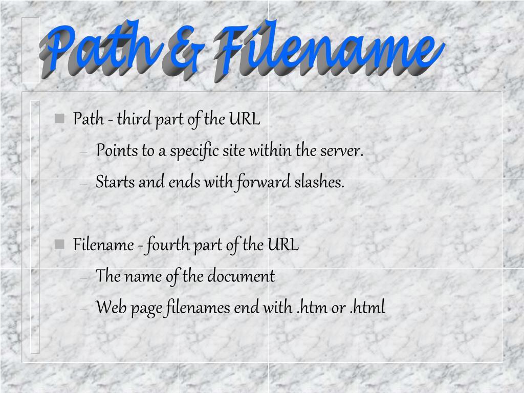 Path & Filename