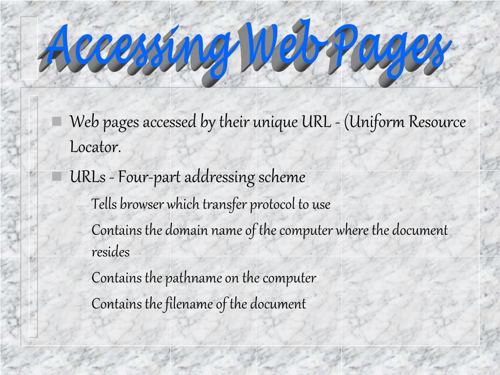 Accessing Web Pages