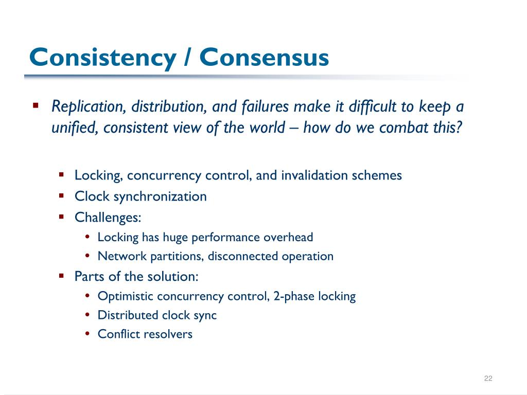 Consistency / Consensus