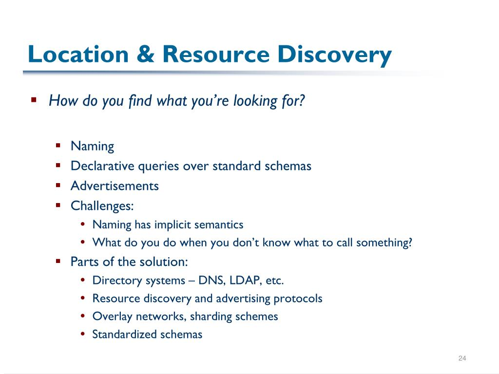 Location & Resource Discovery