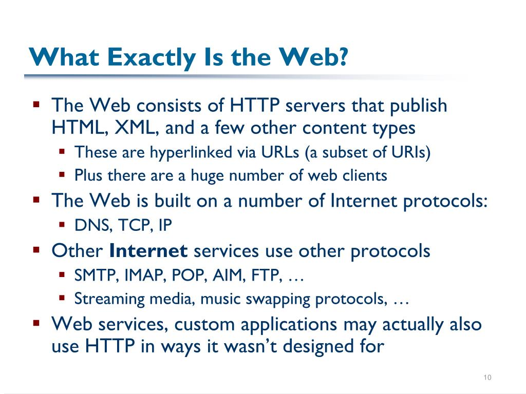 What Exactly Is the Web?