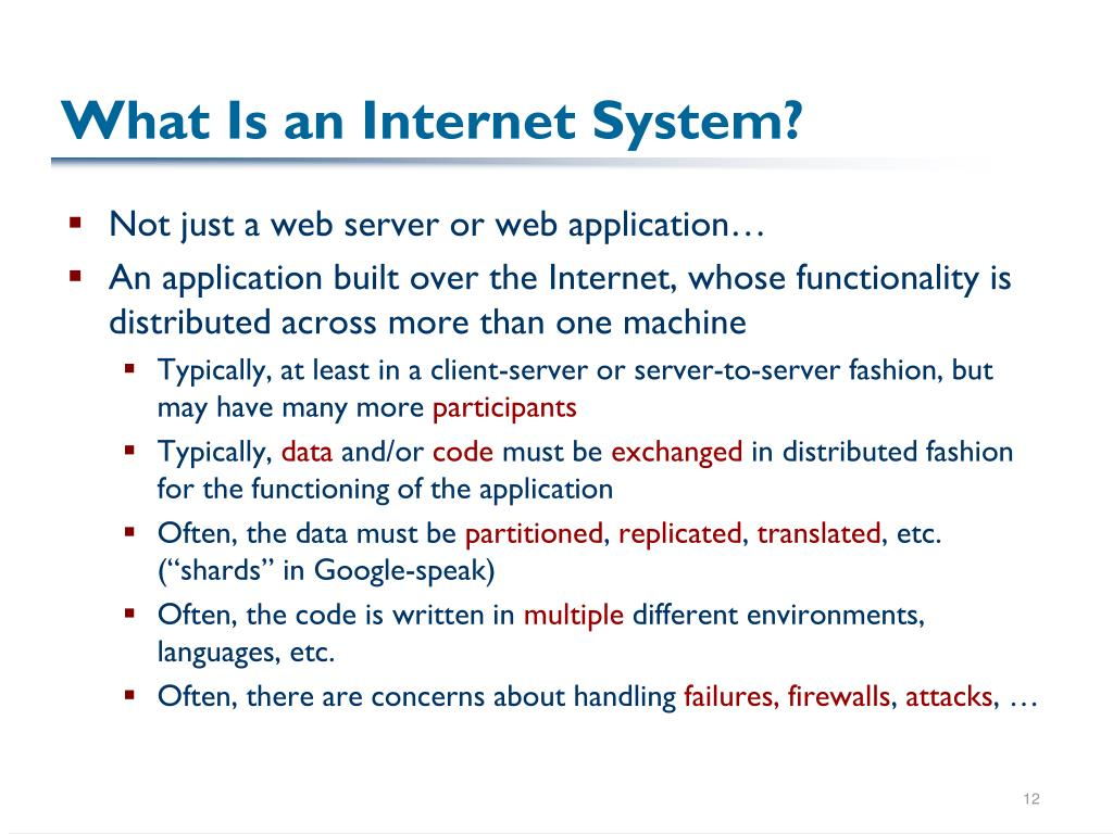What Is an Internet System?