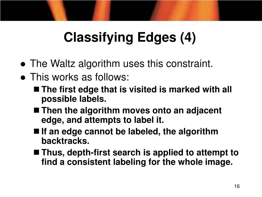 Classifying Edges (4)