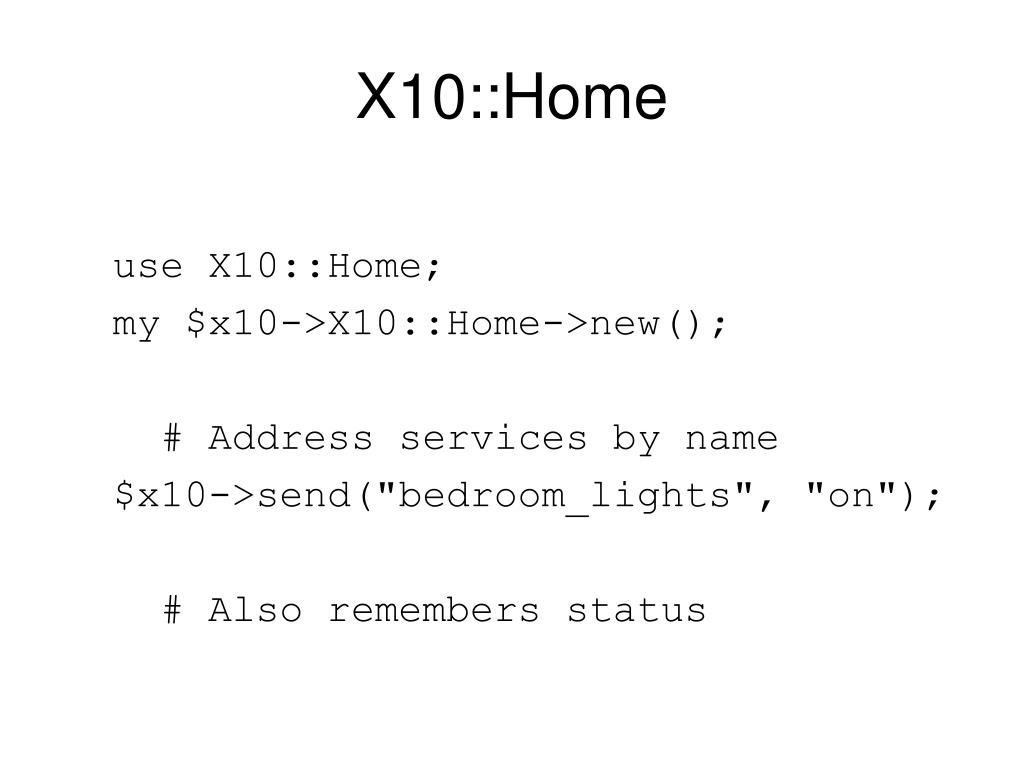 X10::Home