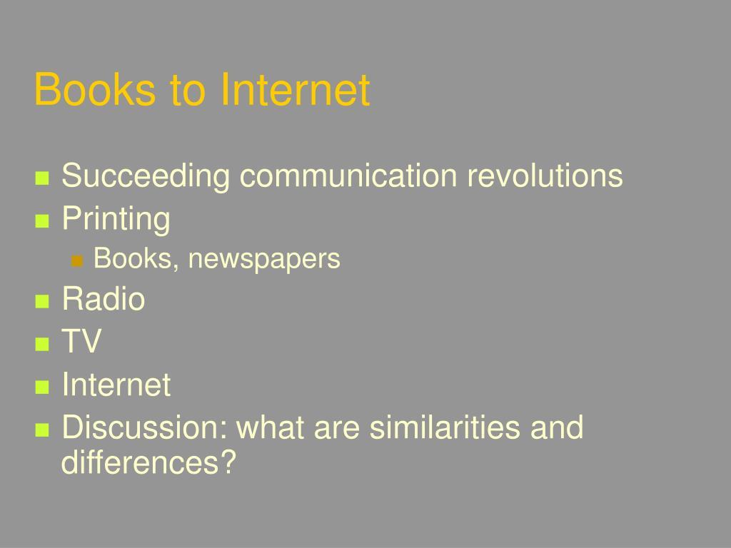 Books to Internet