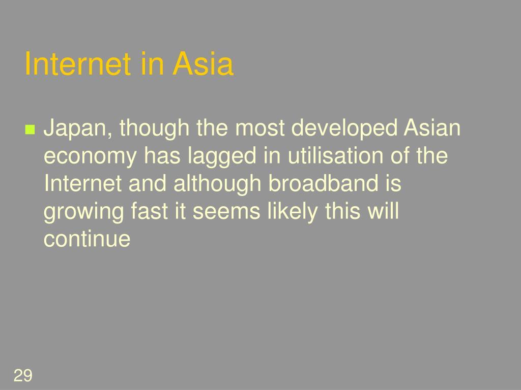 Internet in Asia
