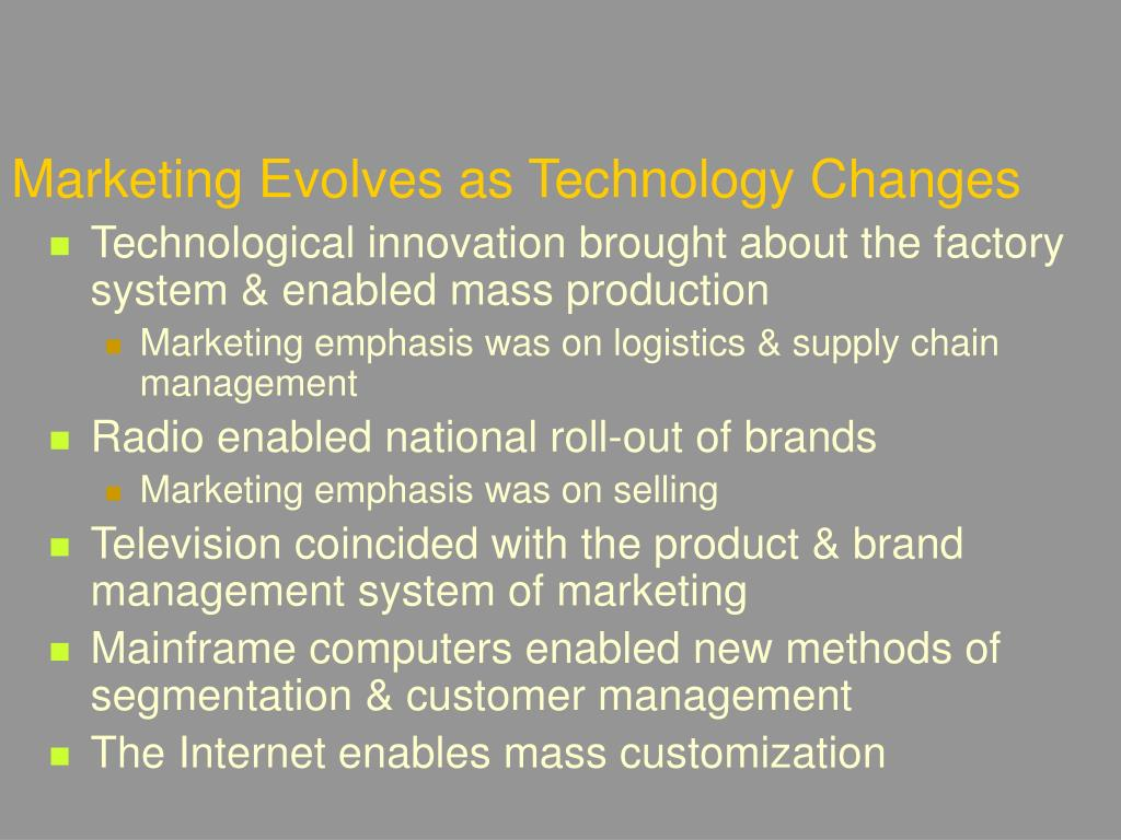 Marketing Evolves as Technology Changes