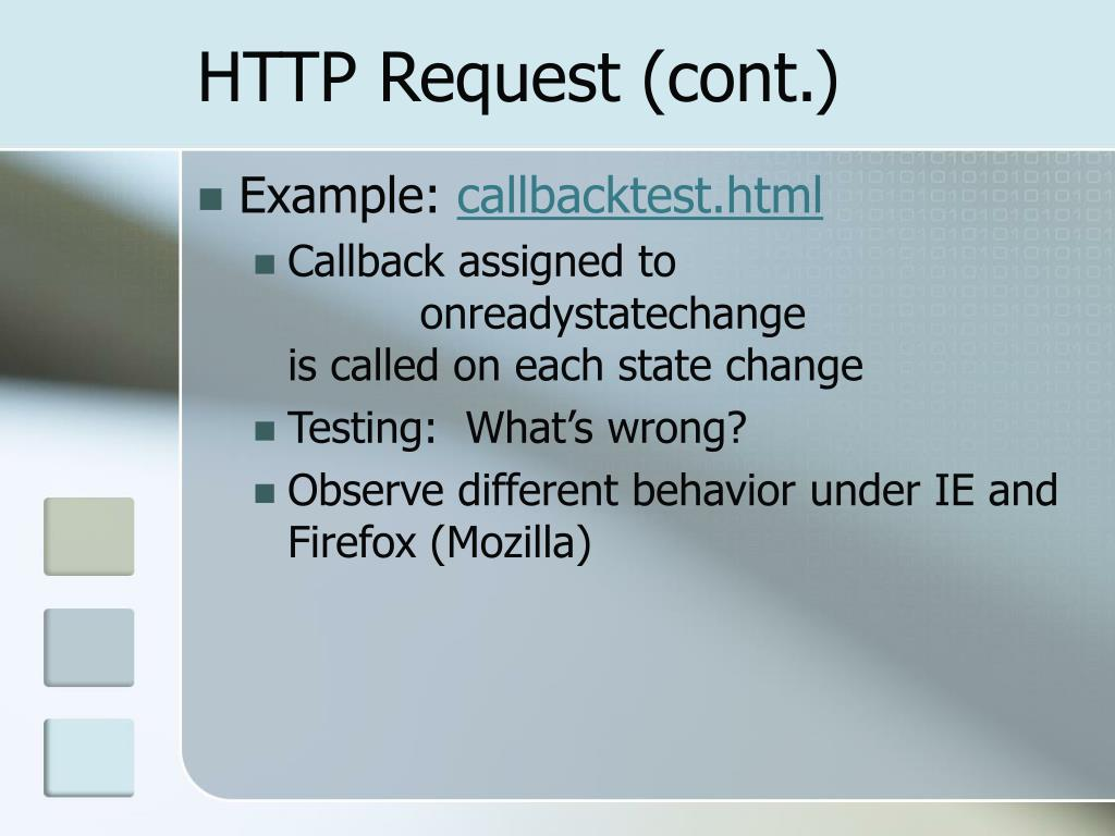 HTTP Request (cont.)