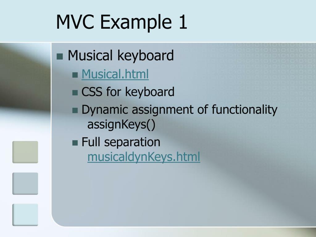 MVC Example 1