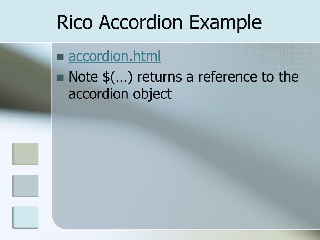 Rico Accordion Example