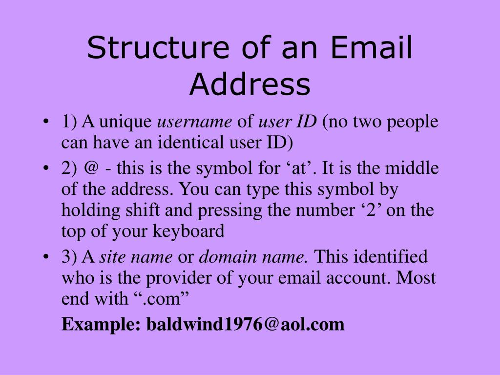 Structure of an Email Address