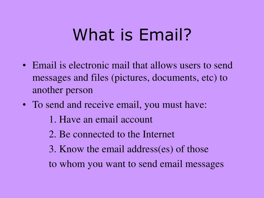 What is Email?