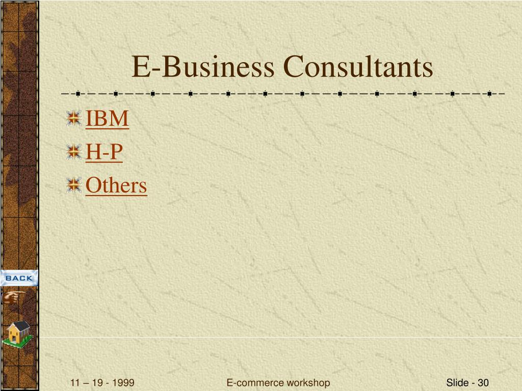 E-Business Consultants