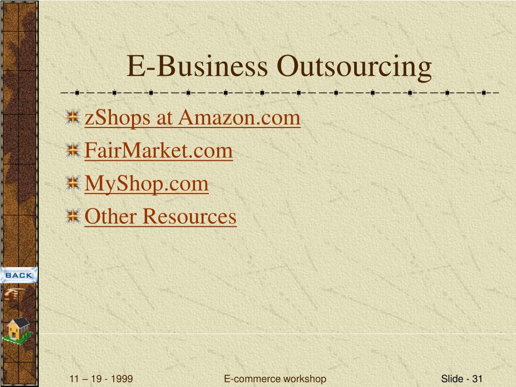 E-Business Outsourcing