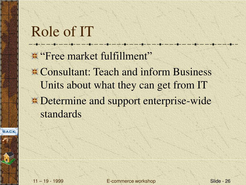 Role of IT