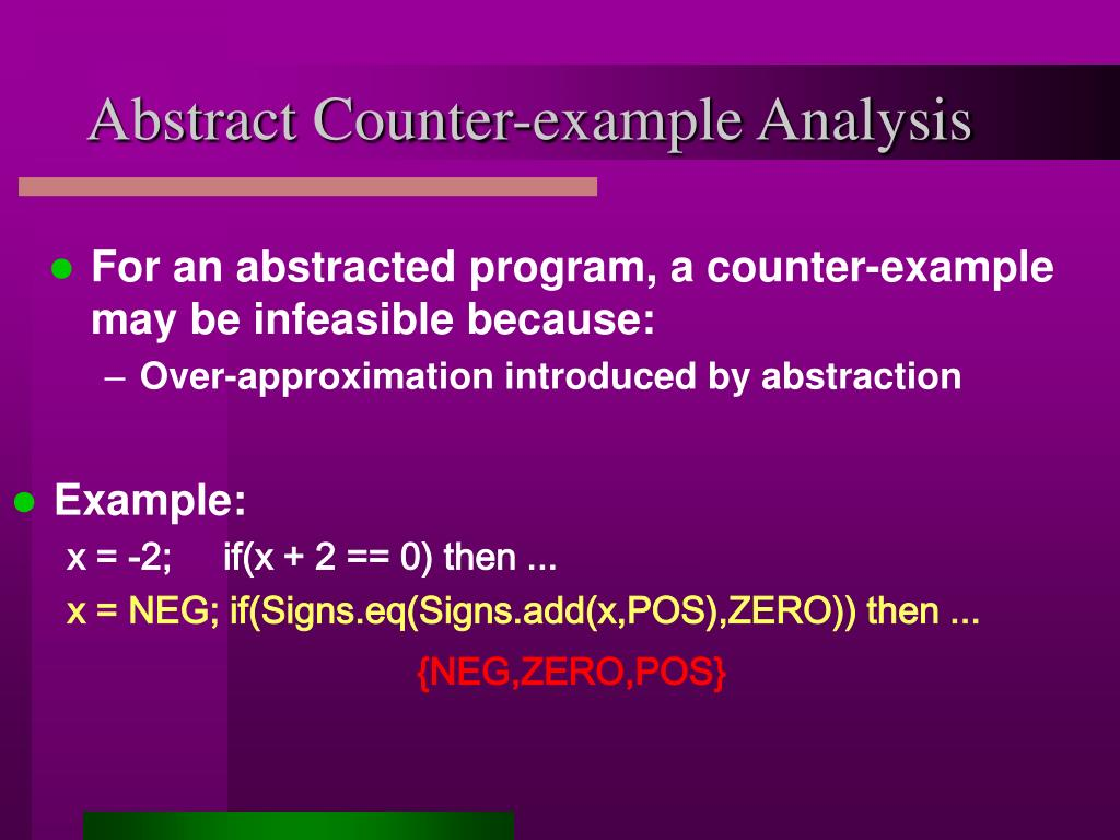 Abstract Counter-example Analysis