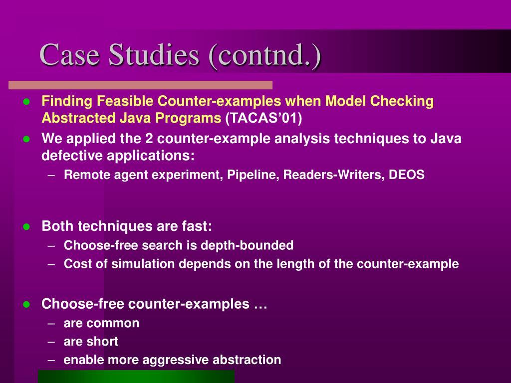 Case Studies (contnd.)