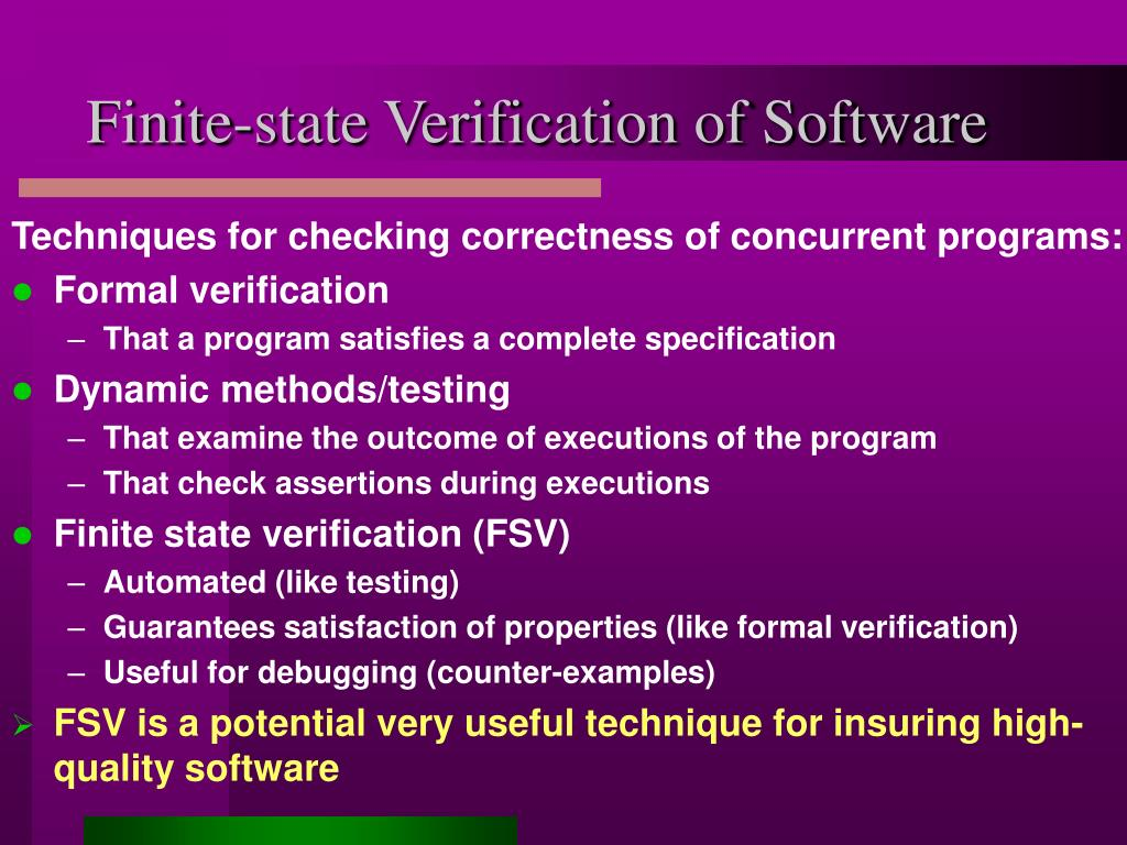 Finite-state Verification of Software