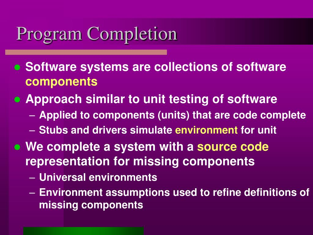 Program Completion