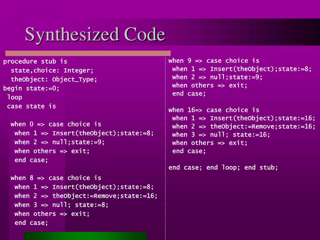 Synthesized Code