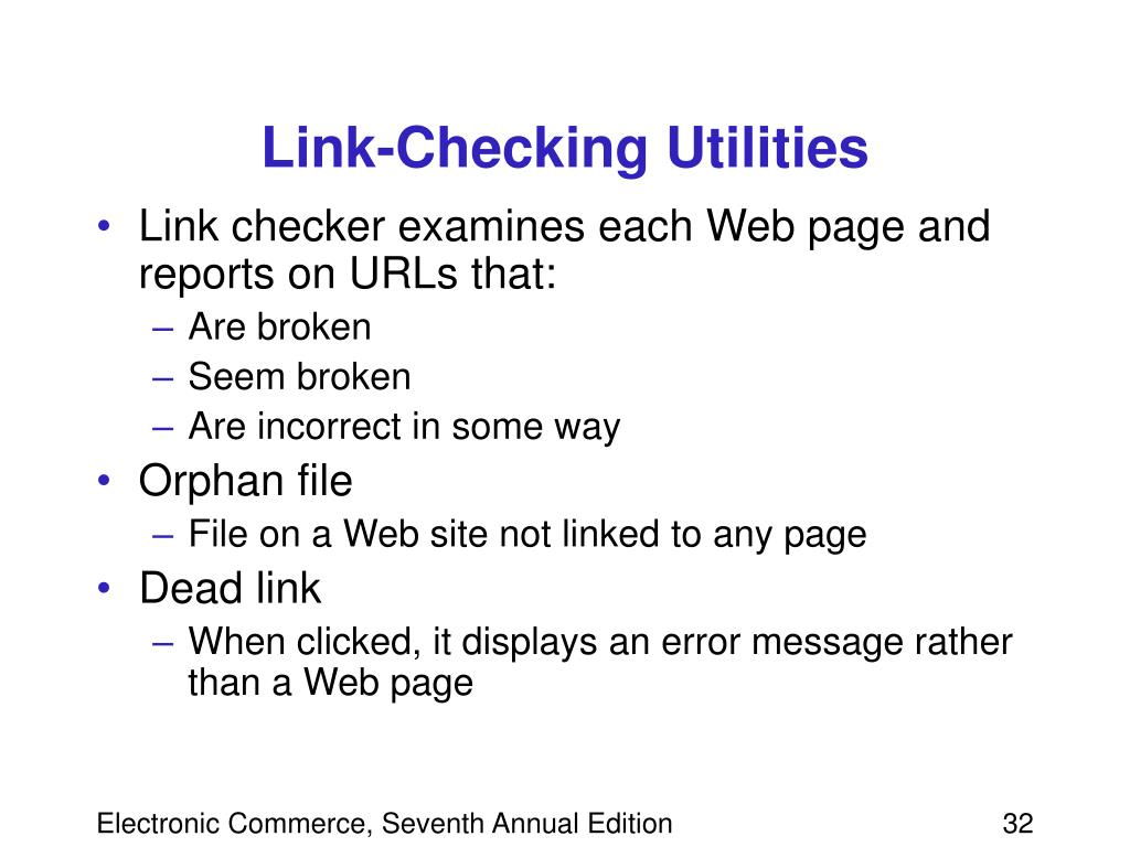 Link-Checking Utilities