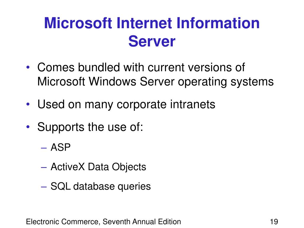 Microsoft Internet Information Server