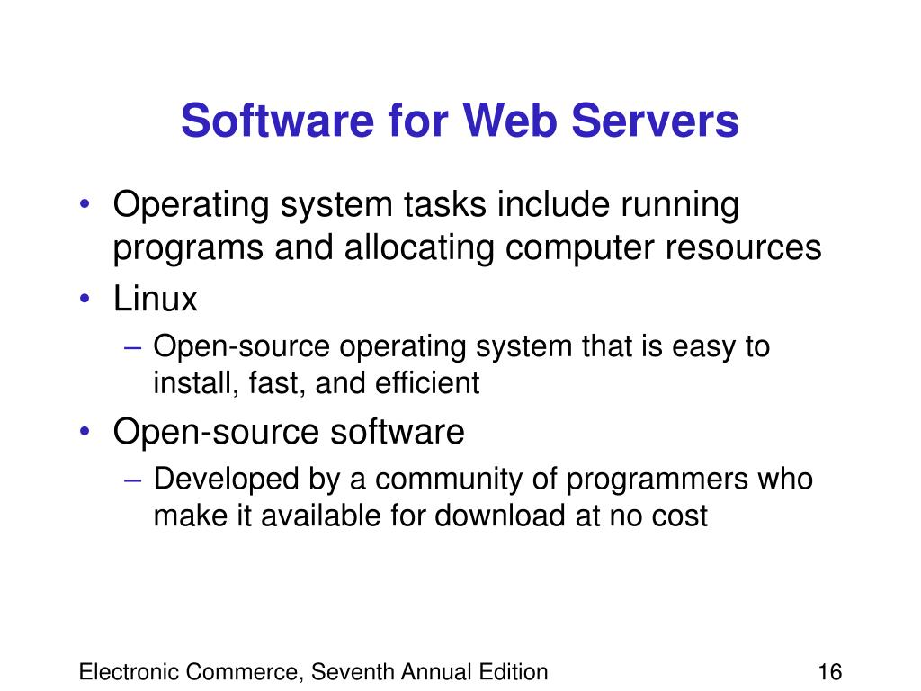 Software for Web Servers