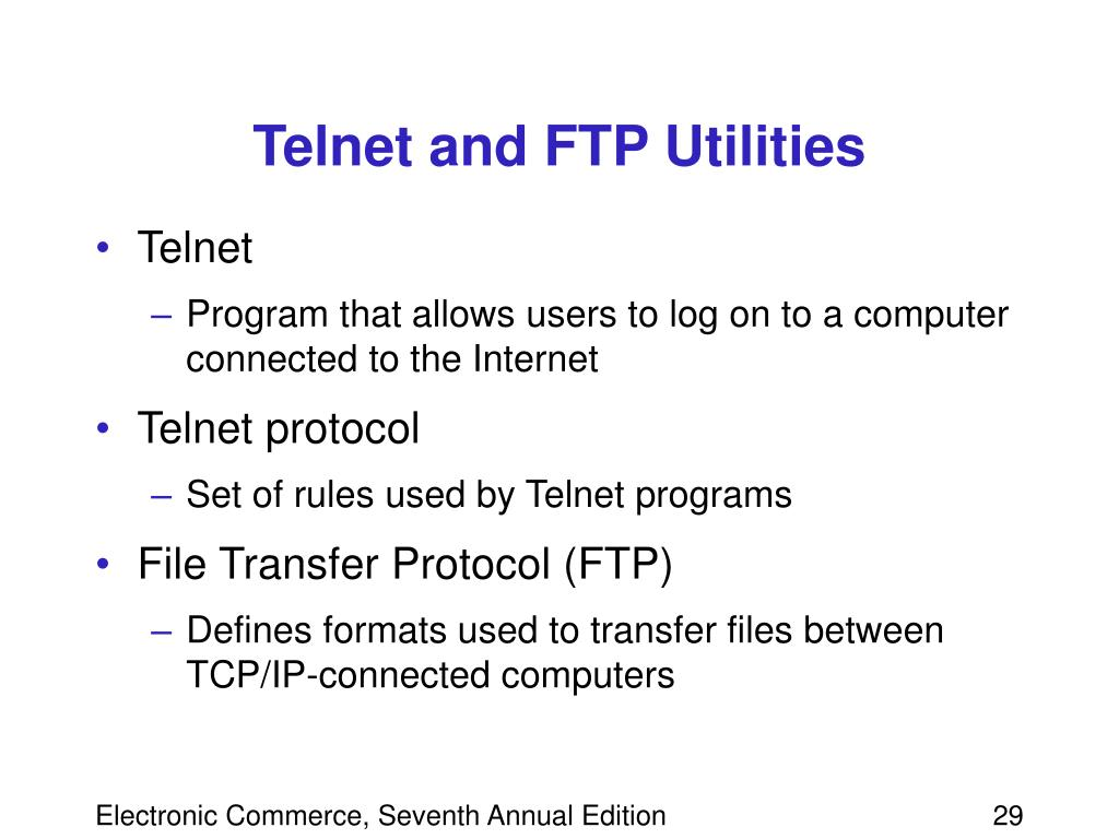 Telnet and FTP Utilities