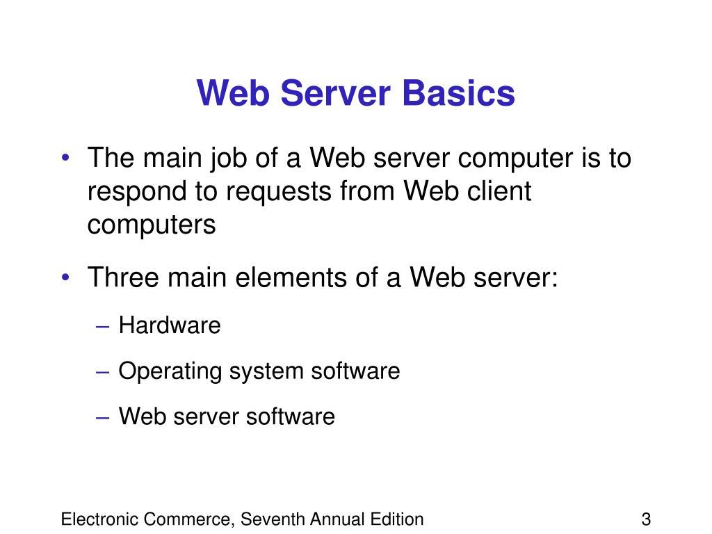 Web Server Basics