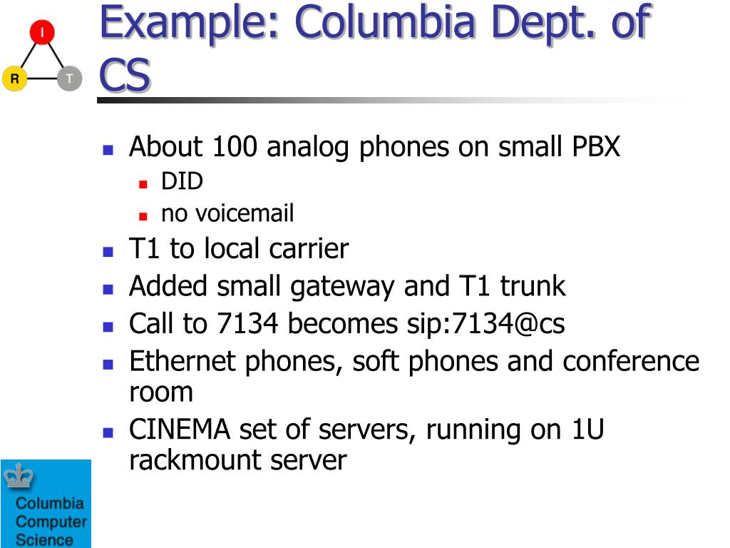 Example: Columbia Dept. of CS