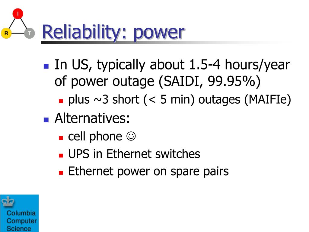 Reliability: power