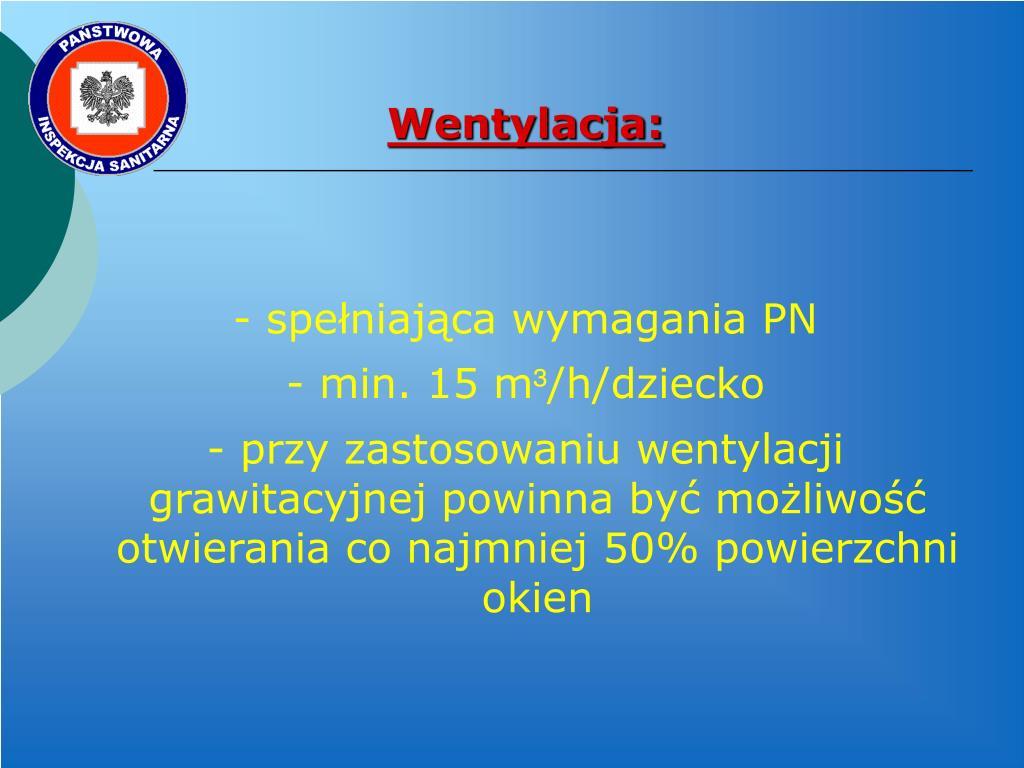 Wentylacja: