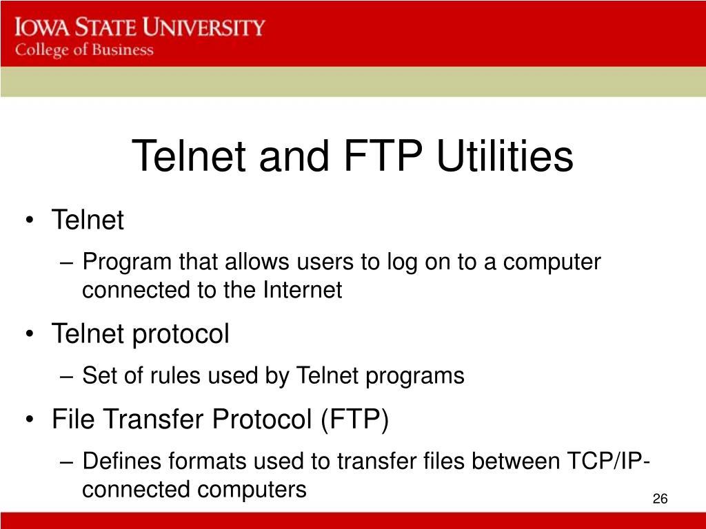 Telnet and FTP Utilities