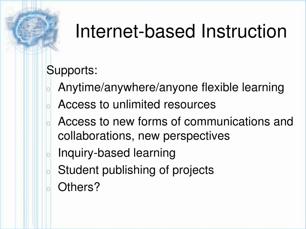 Internet-based Instruction