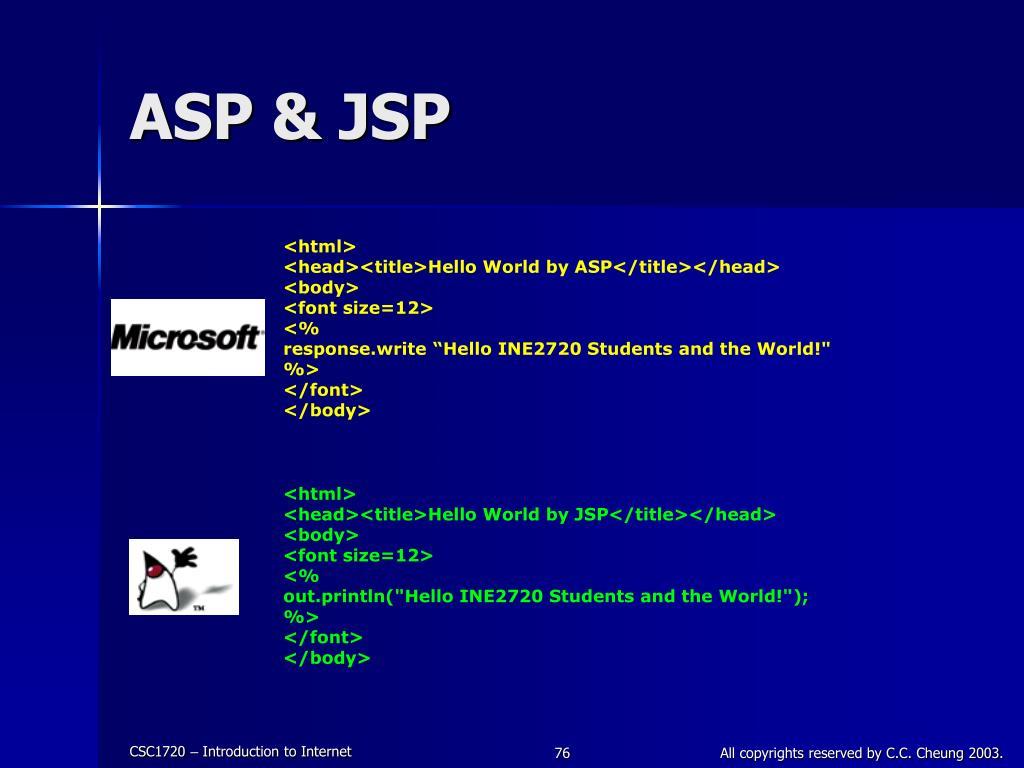 ASP & JSP