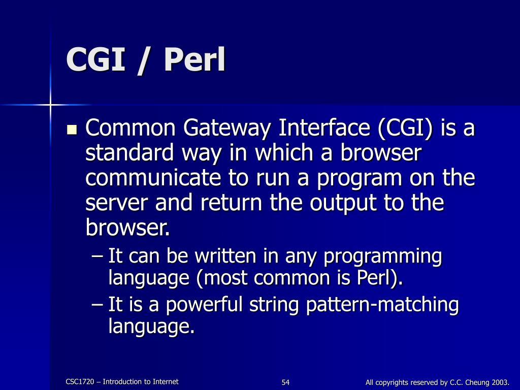 CGI / Perl