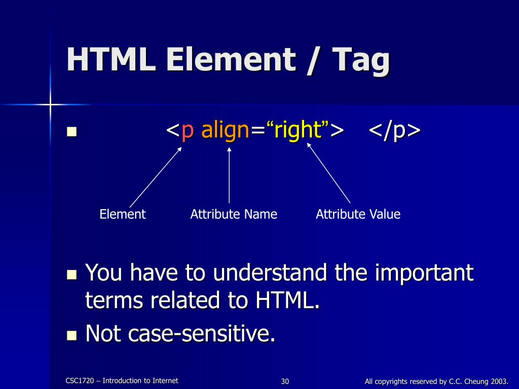 HTML Element / Tag
