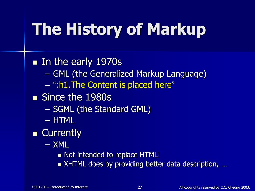 The History of Markup