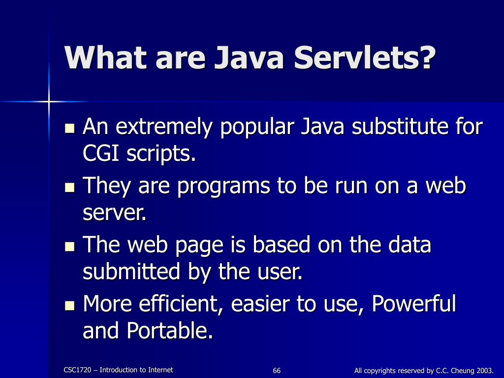 What are Java Servlets?