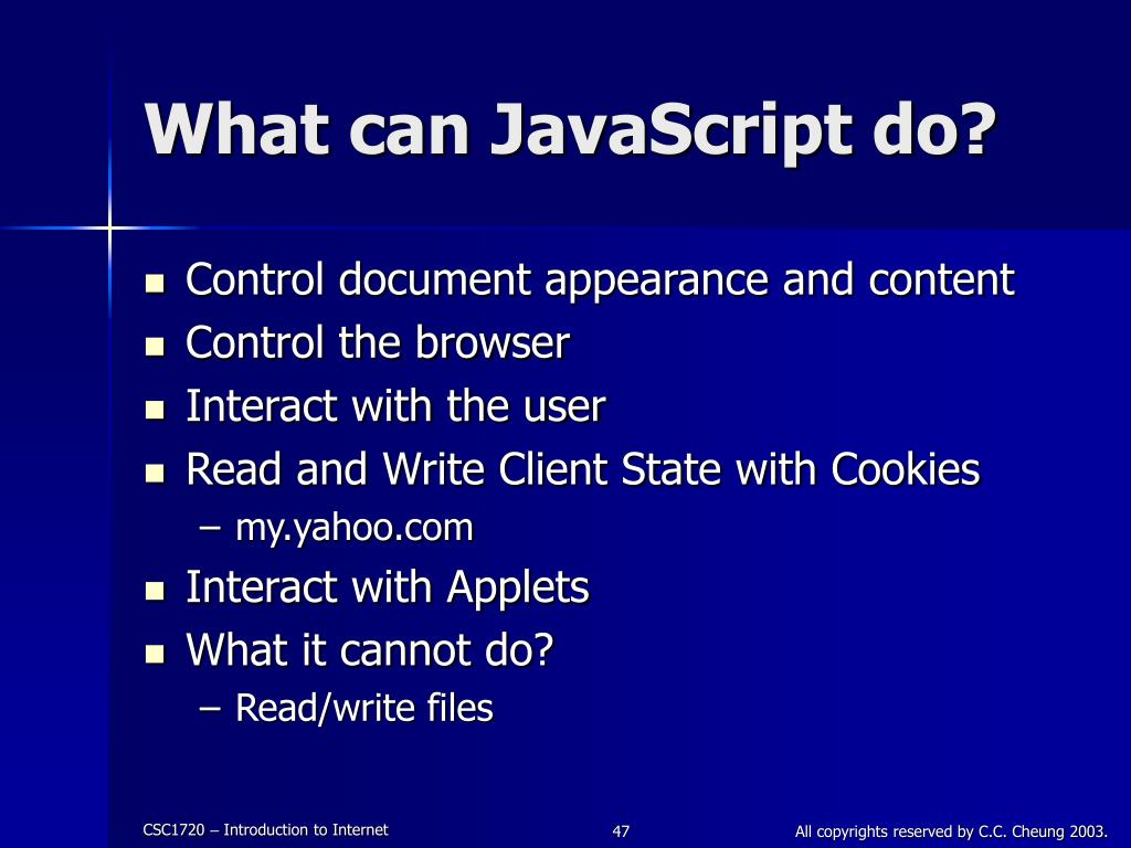 What can JavaScript do?