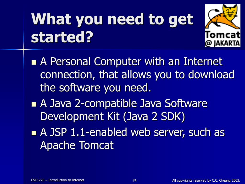 What you need to get started?
