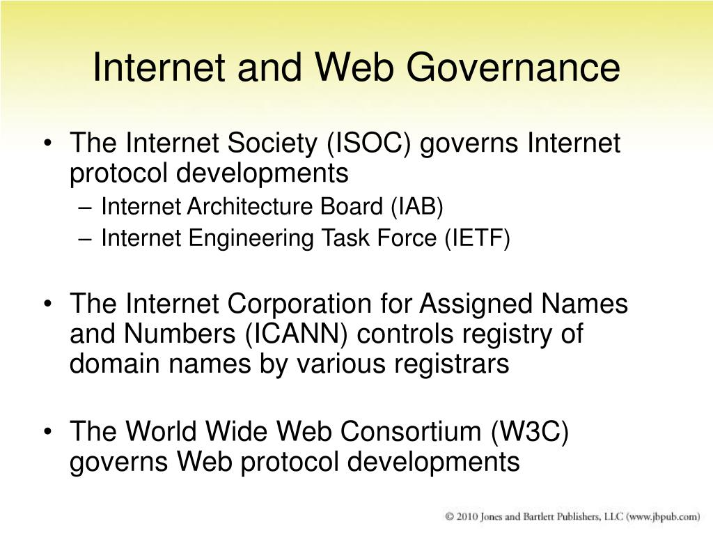 Internet and Web Governance
