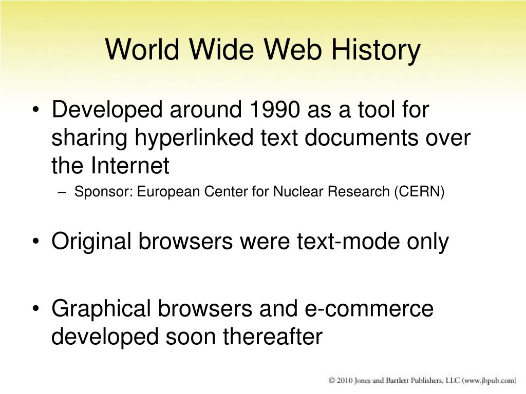 World Wide Web History