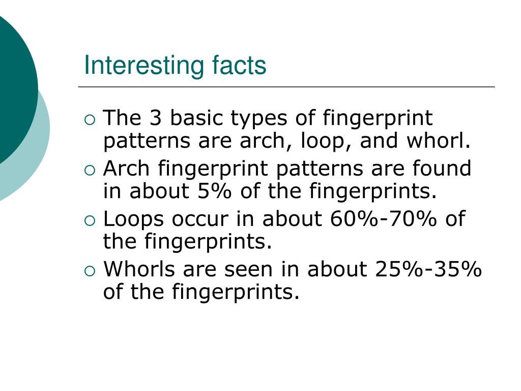PPT - Can fingerprint patterns be inherited? PowerPoint ...