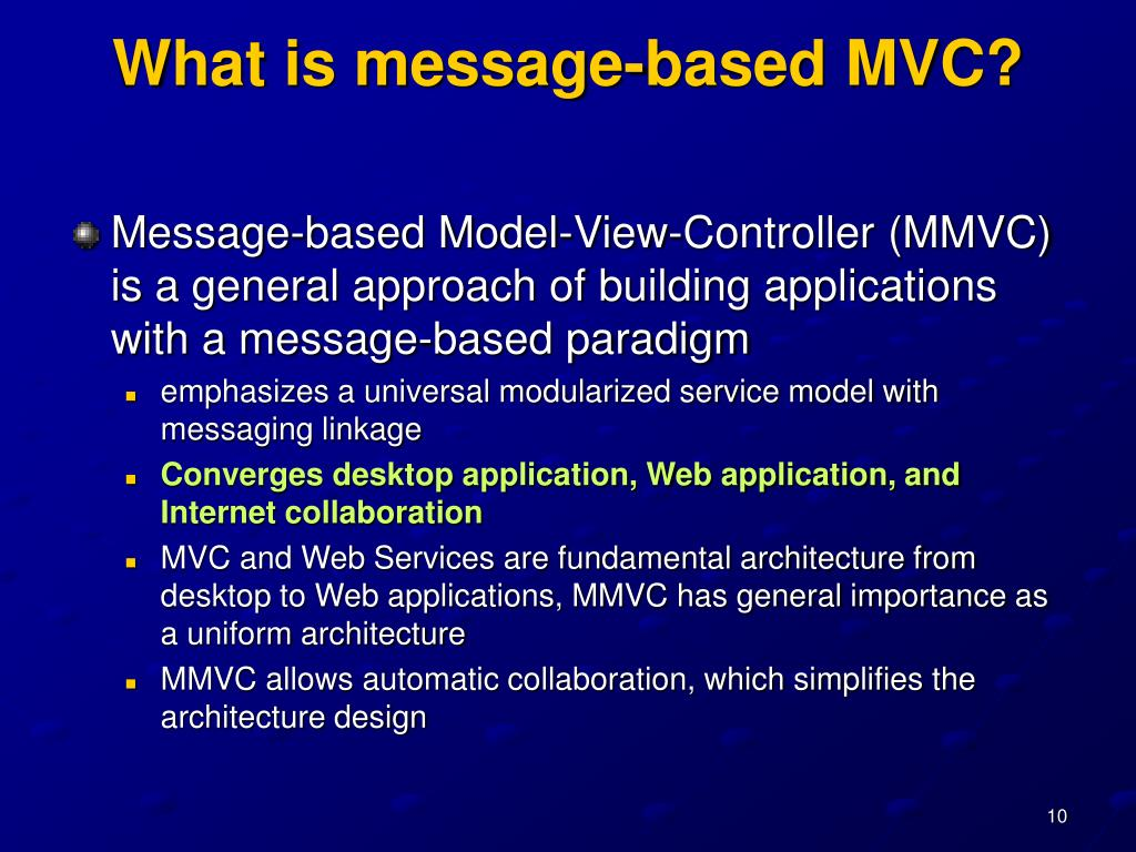 What is message-based MVC?