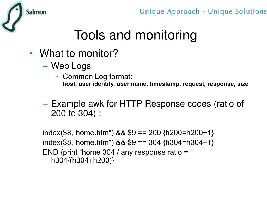 Tools and monitoring
