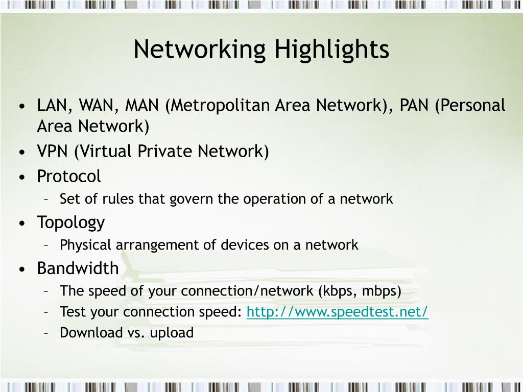 Networking Highlights